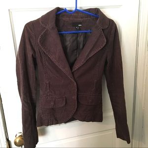H and M corduroy blazer jacket size 4